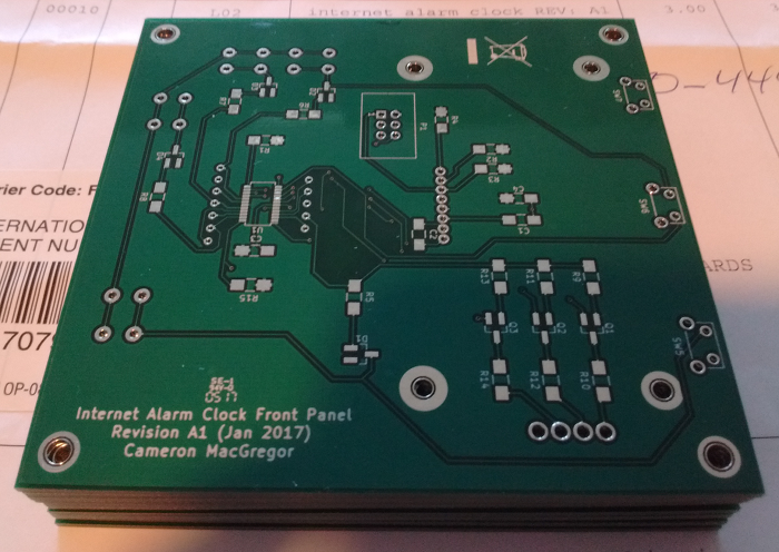 Internet Alarm Clock Front Panel – Cam's Electronics Projects