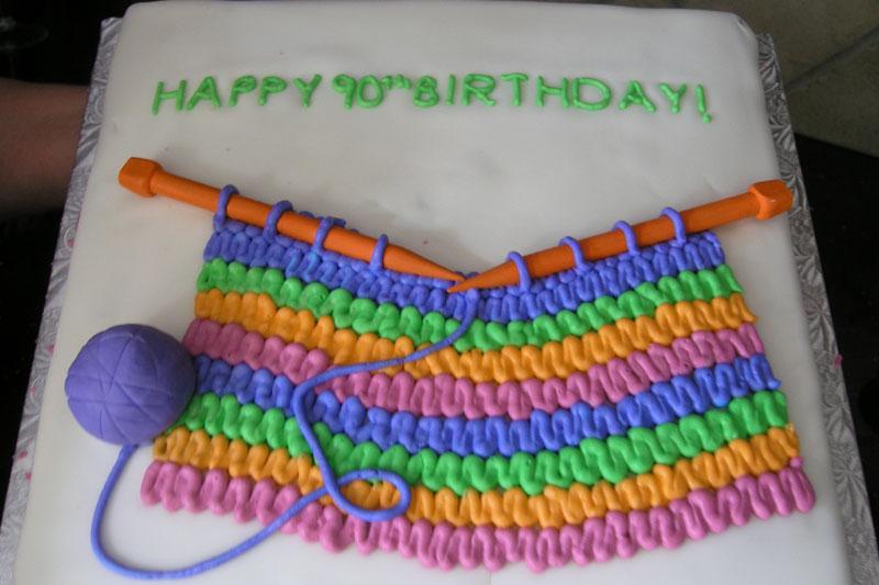 Knitting Cake Designs : Birthday cakes