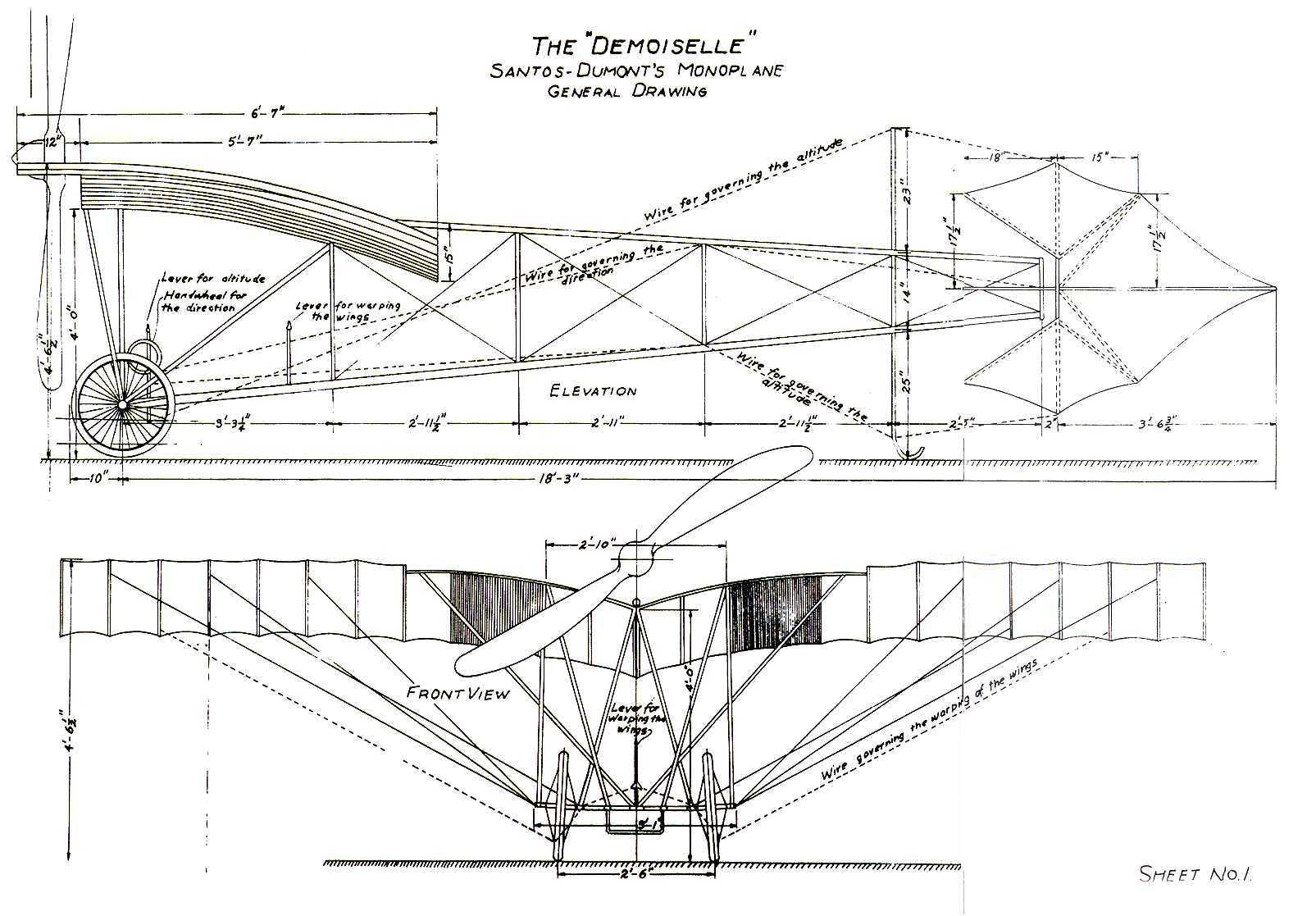 pietenpol wiring diagram first flight - centennial flight - santos-dumont - wright ... #15