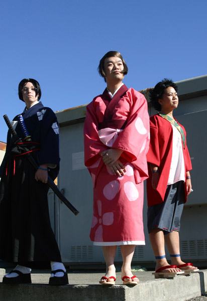 And look at this deadly hilarious cosplay of samurai champloo!
