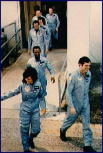 Challenger shuttle astronauts