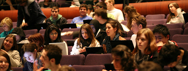 Photo of students before a lecture