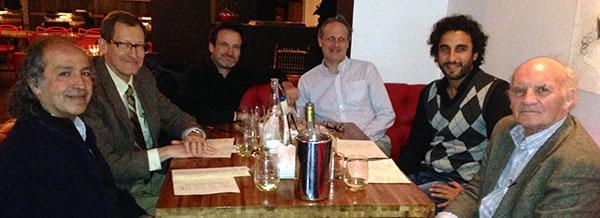 Photo of Hicham's post-defense dinner