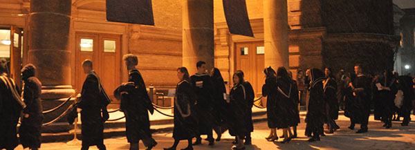 Photo of a convocation ceremony