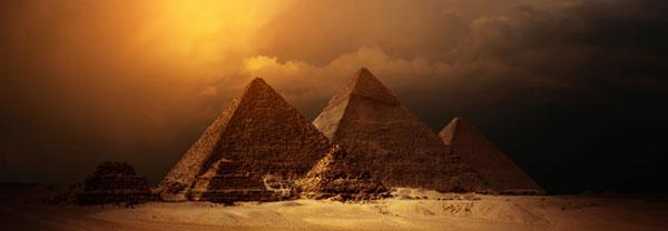 Egyptian sunset panorama